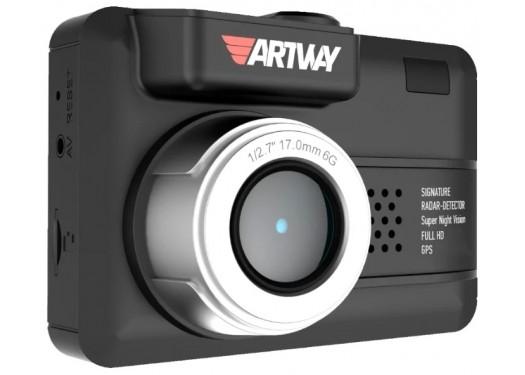 Видеорегистратор с радар-детектором Artway MD-107 Signature 3 в 1 Compact, GPS