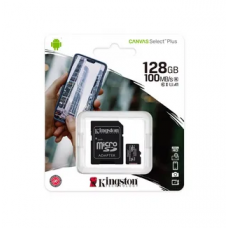 Карта памяти MicroSDXC Kingston 128 GB 100Mb/s, class 10 (с адаптером)