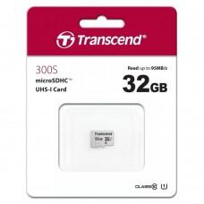 Карта памяти Transcend 300S micro SDHC Card U1 UHS-I 32GB (95Mb/s. 400x), class 10 U1 без адаптера