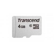 Карта памяти Transcend 300S micro SDHC Card U1 UHS-I 4GB (20Mb/s. 200x), class 10 U1 без адаптера