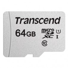 Карта памяти Transcend 300S micro SDHC Card U1 UHS-I 64GB (100Mb/s. 450x) без адаптера, class 10 U1