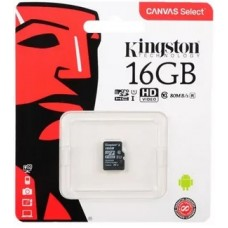 Карта памяти MicroSDHC Kingston 16 GB 80Mb/s, class 10 (без адаптера)